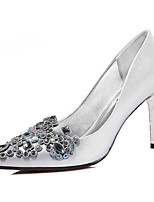 Women's Shoes Glitter Spring/Summer/Fall/Winter Heels Wedding /Party & Evening / Casual Stiletto Black/Silver