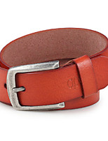 Men Faux Leather Waist Belt,Vintage / Party / Work / Casual Alloy / Leather P3D1P1K3