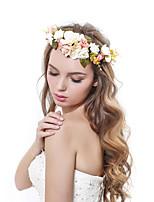 Женский Полиэстер / Ткань Заставка-Свадьба / Особые случаи / на открытом воздухе Венки 1 шт. Многоцветный Цветок 53-56cm