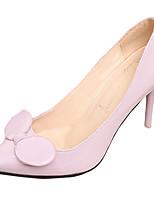 Calçados Femininos-Saltos-Saltos-Salto Agulha-Preto / Azul / Verde / Roxo / Vermelho / Branco / Vinho-Couro Ecológico-Casual