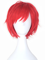 Life In a Different World From Zero Reinhard Van Astrea Men's Synthetic Short Straight Red Color Cosplay Costume Wig