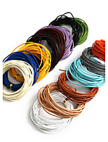 Beadia 5Mts 1.5mm Round Leather Cord & Wire & String (14 Colors)