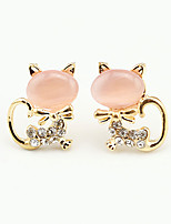 Earring Animal Shape Jewelry Women Fashion Wedding / Party / Daily / Casual Alloy / Rhinestone / Opal 1 pair Gold