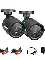 SANNCE® 2Pcs 720P AHD Indoor And Outdoor IR Cut CCTV Camera Kits Weatherproof Home Security System Kits
