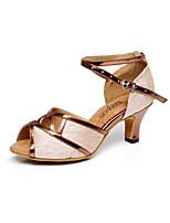 Sapatos de Dança(Preto / Marrom / Prateado / Dourado) -Feminino-Não Personalizável-Latina / Salsa