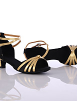 Chaussures de danse(Noir / Bleu / Rouge / Multicolore) -Personnalisables-Talon Bas-Cuir-Latine / Baskets de Danse