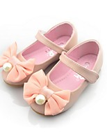 Girls' Shoes Dress / Casual Comfort Faux Leather Flats Pink / White