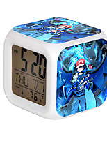 Cartoon Pet Colorful Luminous Alarm Clock-12#