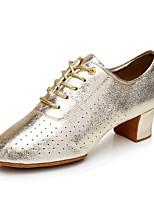 Chaussures de danse(Argent / Or) -Non Personnalisables-Talon Bottier-Flocage-Salsa