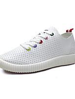 Da donna-Sneakers-Tempo libero / Casual-Comoda / Punta arrotondata-Plateau-Vernice-Verde / Rosa / Bianco
