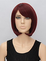 New Fashion Fuxia Short Wig Hairstyles European and American 34cm Straight Wigs Women Short Synthetic Wigs