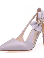 Women's Heels Summer Heels PU Casual Stiletto Heel Bowknot Pink / White / Gray Others