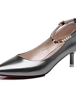 Women's Shoes Patent Leather Spring/Summer/Fall /Winter Heels Office & Career/Casual Stiletto Black/Silver