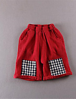 Girl's Casual/Daily Solid Pants,Cotton Summer Black / Brown / Red