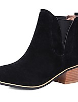 Women's Shoes Fleece Fashion Boots / Combat Boots / Round Toe Boots Office & Career / Dress / Casual Chunky Heel Gore