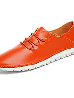Men's Shoes Microfibre Casual Flats Casual Walking Flat Heel Others / Lace-up Black / Blue / White / Orange