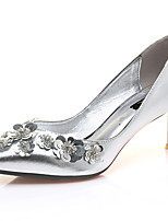Women's Shoes Synthetic Spring/Summer/Fall/Winter Heels Heels Wedding / Party & Evening / Casual Stiletto Silver