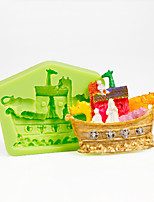 Multi Animal Ship Nautical Silicone Mold for Chocolate Polymer Clay Candy Making Sugarcraft Tools Cake Decorations