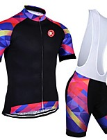 KEIYUEM® Summer Cycling Jersey Short Sleeves + BIB Shorts Ropa Ciclismo Cycling Clothing Suits #K97