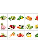 Floreale / Alimenti Adesivi murali Adesivi aereo da parete Adesivi decorativi da parete,pvc Materiale Rimovibile / Riposizionabile