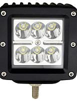 18w los estados unidos coche Cree llevó luces de trabajo llevó la luz de las luces de bóveda del coche todo terreno