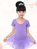 Ballet Dresses Children's Training Chiffon / Cotton Pleated 1 Piece  Short Sleeve  Kid's Dance Costumes