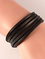 Braided Wax Cord Classic Fashion Leather Wrap Around Lengthen Bracelet Jewelry