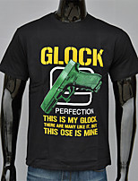 Men's Personality Fashion Printing Guns Design Round Neck 3D T-shirt
