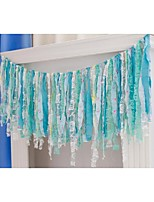 Blue Photo Backrop Baby Bridal Shower Fabric Garlands Wedding Photo Prop Table Decoration