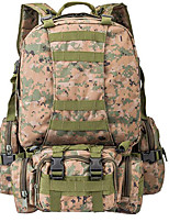 9 L Hiking & Backpacking Pack / Backpack Camping & Hiking Outdoor Multifunctional Brown / Army Green Oxford Other