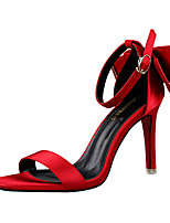 Women's Sandals Summer Sandals Silk Casual Stiletto Heel Others Black / Pink / Purple / Red / Gray Others