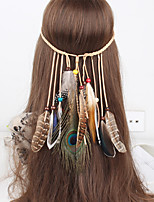 Women's Bohemia Fashion Feather Pendant Weave Headbands 1 Piece