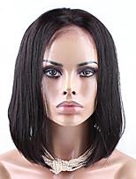 CARA 7A Silky Straight Short Human Hair Bob Wigs Full Lace Human Hair Wigs For Black Women Bob Wig 8