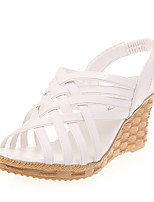 Women's Shoes PU Summer Wedges Heels Casual Wedge Heel Others Black / White / Beige