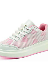 Women's Shoes Synthetic Platform Creepers / Comfort Fashion Sneakers Casual Black /White/Pink