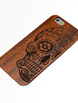 Para Funda iPhone 6 Funda iPhone 6 Plus Carcasa Funda En Relieve Cubierta Trasera Funda Cráneos Dura Madera para iPhone 6s Plus iPhone 6
