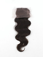 EVAWIGS Brazilian Virgin Hair Natural Colour Hair Pieces Lace Closure 4x4 Inch Natural Body Wave No Wrapping Closure