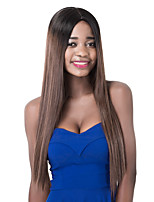 European Vogue long Sythetic Black Mix Brown Straight Party Wig For Women