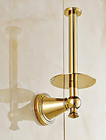 Gold-Plated Fishinging Bathroom Accessories Solid Brass Material Toilet Paper Holders