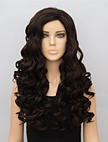 Brown Long Synthetic Wigs Wave New Fashion Heat Resistant Synthetic Women Party Wigs