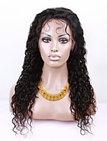 EVAWIGS Brazilian Human Hair Wig Lace Front Wig Natural Black Color Deep Wave Wig for Black Women