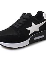 Da donna-Sneakers-Tempo libero / Casual / Sportivo-Comoda-Piatto-Finta pelle-Nero / Grigio