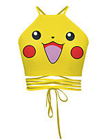 Inspiré par Pocket Monster PIKA PIKA Anime Costumes Cosplay Tops Cosplay / Bas Motif Animal Jaune Sans Manches Veste