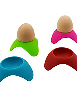 Creative Silicone Egg Cup Holder Steam Eggs Seat Silicone Egg Tools Food Grade(Random Color)