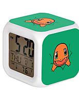 Poke Ball Colorful Flash Cartoon Alarm Clock-25#
