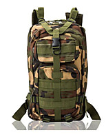 30 L Backpack Camping & Hiking Outdoor Multifunctional Black / Camouflage Nylon Other