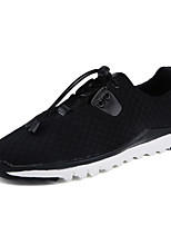 Men's Shoes PU Outdoor Flats Outdoor Walking Flat Heel Shoes /  Black / Gray
