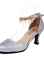 Women's Heels Summer Heels PU Casual Stiletto Heel Buckle Silver / Gold Others