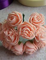 1pc 1 Rama Plástico Plantas Flor de Pared Flores Artificiales 10*10*5cm