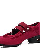 Non Customizable Women's Dance Shoes Fabric Dance Sneakers Heels Chunky Heel Performance More Color EU36-39